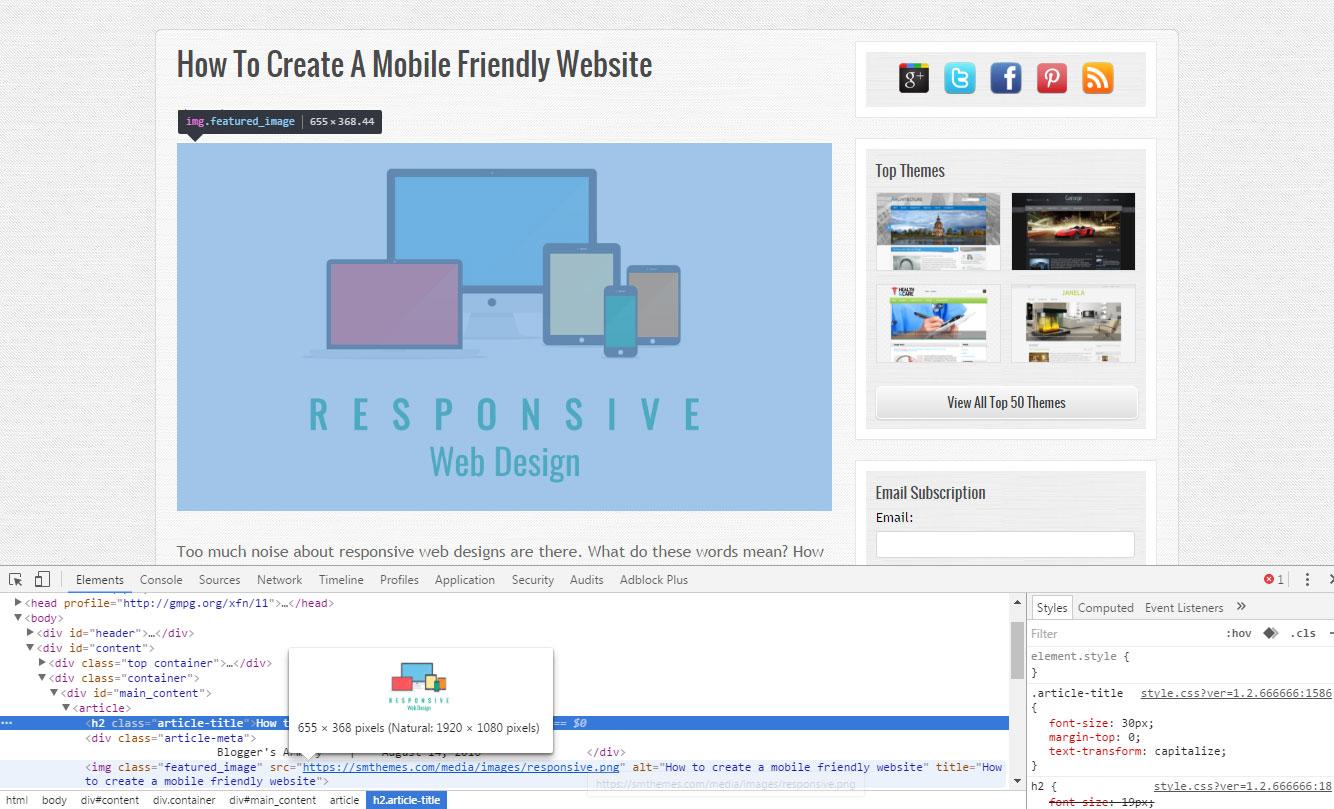 How to create a mobile friendly website :: SMThemes Blog