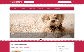 AboutToys Free WordPress Theme