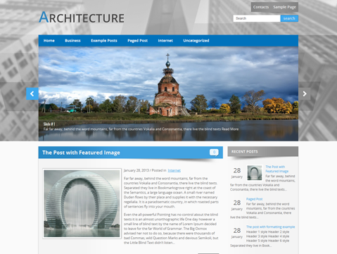 Architecture free wordpress theme for Architecture wordpress