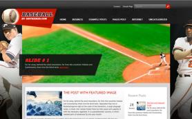 Baseball Free WordPress Theme