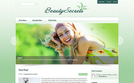 BeautySecrets Free WordPress Theme