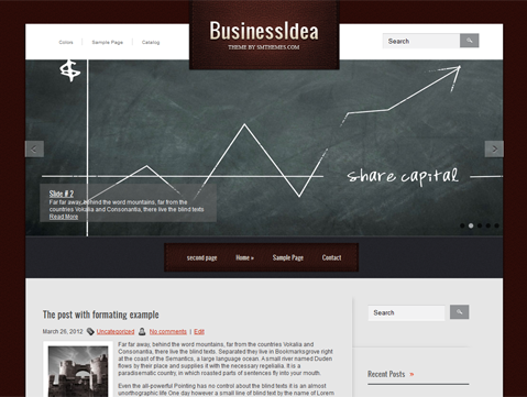 BusinessIdea Free WordPress Theme