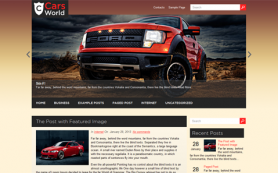 CarsWorld Free WordPress Theme