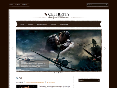 Celebrity Free WordPress Theme