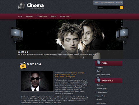 Cinema Free WordPress Theme