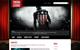 CinemaLounge Free WordPress Theme