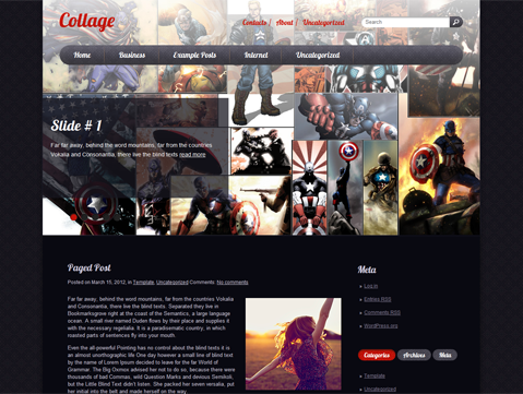 Collage Free WordPress Theme