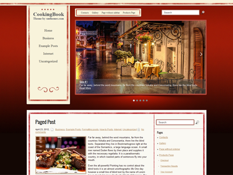 CookingBook Free WordPress Theme