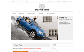 CreatorWorld Free WordPress Theme