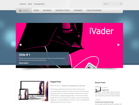 Dapple Free WordPress Theme