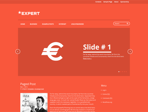 Expert Free WordPress Theme