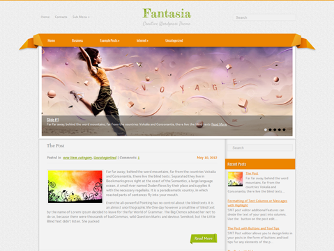Fantasia Free Wordpress Theme
