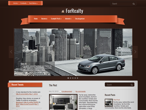 ForRealty Free WordPress Theme