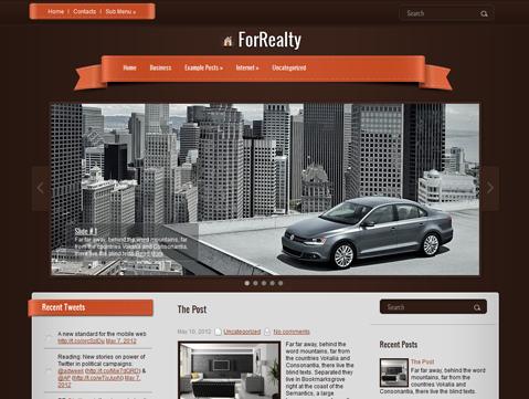 ForRealty Free WordPress Theme
