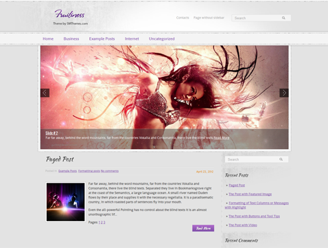 Fruitiness Free WordPress Theme