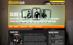 GameClub Free WordPress Theme