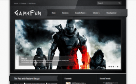 GameFun Free WordPress Theme