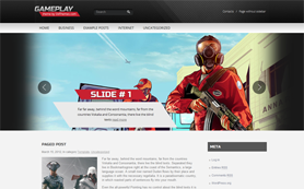 Gameplay Free WordPress Theme