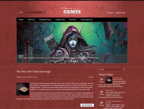 plantillas premium gratuitas para pagina de videojuegos
