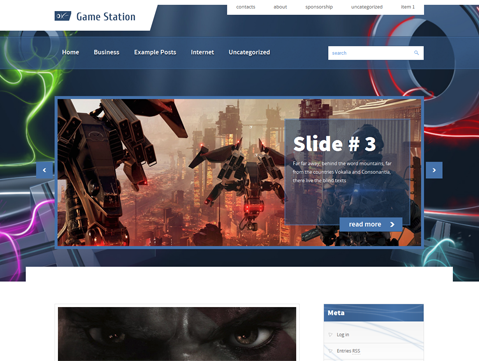 GameStation Free WordPress Theme