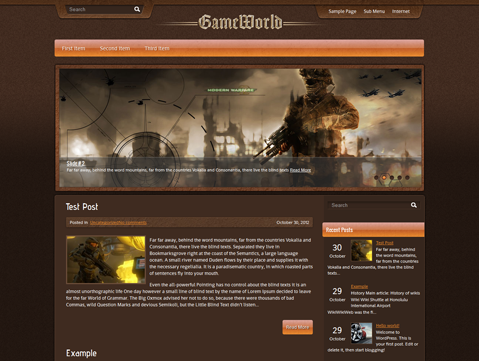 GameWorld Free WordPress Theme