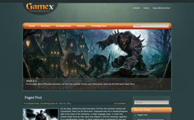 GameX Free WordPress Theme