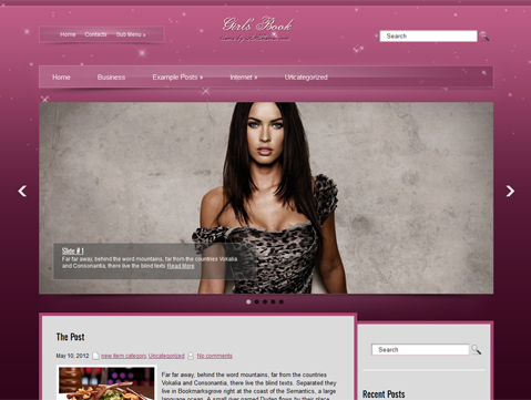 GirlsBook Free WordPress Theme