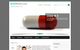 GreMedicine Free WordPress Theme