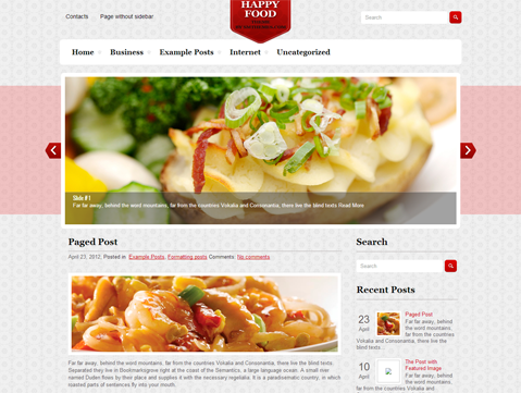 Wordpress Themes HappyFood