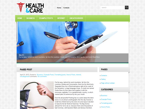 Wordpress Themes HealthCare