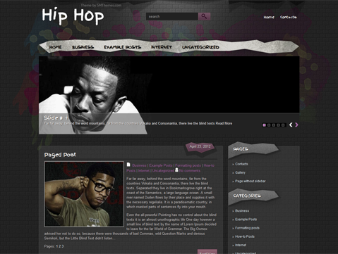 HipHop Free WordPress Theme