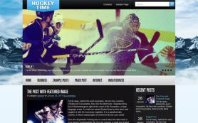 HockeyTime Free WordPress Theme