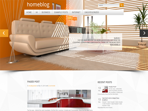 Homeblog Free WordPress Theme