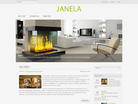 Wordpress Themes Janela