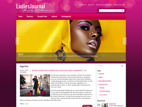LadiesJournal Free WordPress Theme