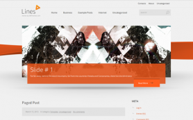 Lines Free WordPress Theme