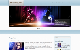 LoudCloud Free WordPress Theme