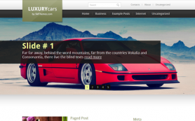 LuxuryCars Free WordPress Theme