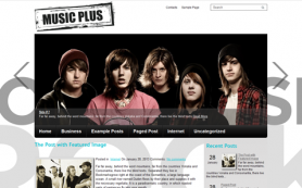 MusicPlus Free WordPress Theme