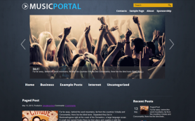 MusicPortal Free WordPress Theme