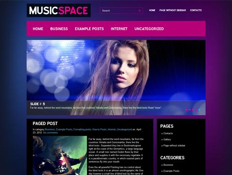 MusicSpace Free Wordpress Theme