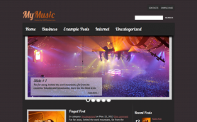MyMusic Free WordPress Theme