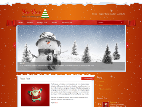 NewYear Free WordPress Theme