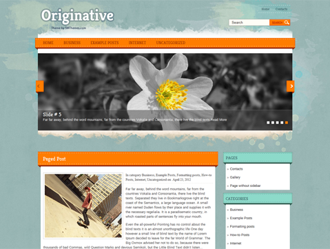 Originative Free Wordpress Theme