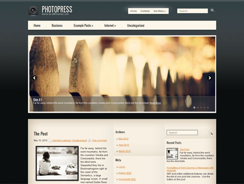 PhotoPress Free WordPress Theme