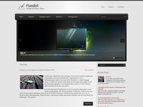 Wordpress Themes Planshet