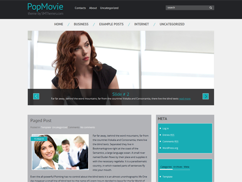 PopMovie Free WordPress Theme
