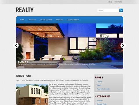 Realty Free Wordpress Theme
