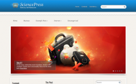 SciencePress WordPress theme