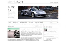 SimpleCars Free WordPress Theme
